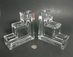 Wilber Orme Pristine Table Architecture Art Deco Cambridge Glass Candleholders