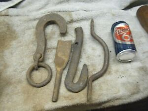 Old Vintage Hand Forged Hook Barn Door Handle Tool From Wi Logging Camp