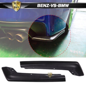 For 15 18 Subaru Wrx Sti Painted Matte Black Pair Rear Bumper Splitter Lip abs
