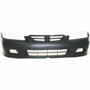 New For Honda Accord Coupe Front Bumper Cover Primed Fits 2001 2002 Ho1