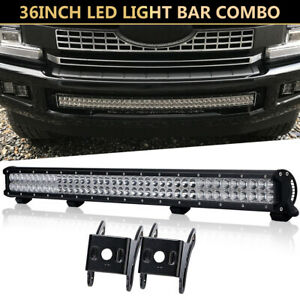 New 36inch 4368w Combo Beam Led Work Light Bar Lens Atv Suv 4wd Offroad 34 38