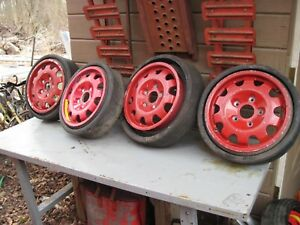 Porsche Alloy Spare Wheels And Tires Set Of 4 Match s 15x5 1 2 Et 30 Outlaw