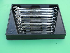 Snap On Soexm710 10 Pc Metric Flank Drive Plus Wrench Set Soexm10 19 W Tray