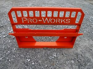 Kubota Skid Steer Attachment Extreme Pallet Fork Back Plate Ship For 149