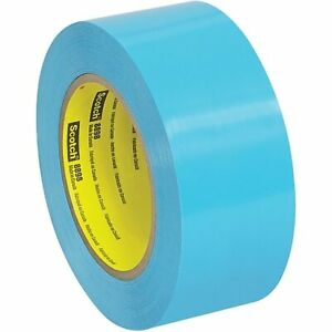 6 Rolls Scotch 3m 8898 Tensilized Poly Strapping Tape 4 6 Mil 2 X 60 Yds Blue