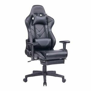 Healgen Gaming Chair With Footrest Pc Computer Video Game Chair Racing Style