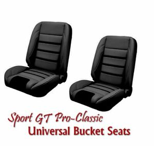 Sport Gt Pro Classic Complete Universal Bucket Seat Set New From Tmi Usa