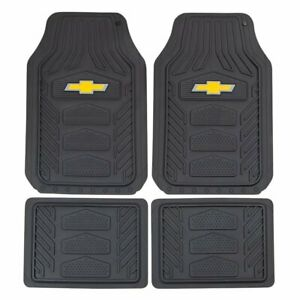 Chevy Weatherpro Black Car Truck Suv Heavy Duty All Weather Rubber Floor Mats