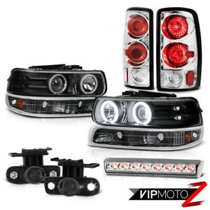 2000 2006 Tahoe Lt Headlamps Parking Lamp Tail Lamps Smoked Foglights Roof Cab