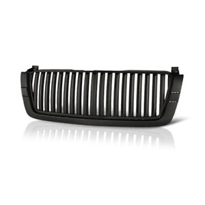Chevy 2003 2006 Silverado 1500 2500 Avalanche Glossy Black Front Vertical Grille
