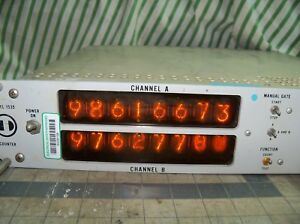 Vintage Darcy Tsi 1535 Counter Two Channel Nixie Tube Usa