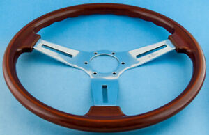 Vintage Italian Personal Collaudo Model Wood Steering Wheel W Mb Hub