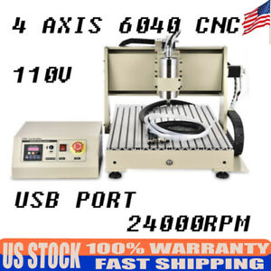 Us Mini Cnc Router Frame 6040t Machine 304 Stainless Steel 1 5kw Vfd 24000 Rpm