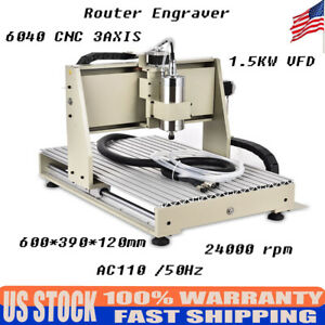 Ac110v 3axis Cnc 6040 Router Engraver Engraving Machine 1 5kw Water cooled Vfd