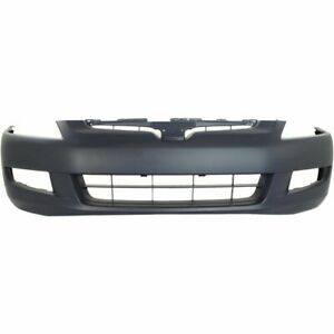 New For Honda Accord Coupe Front Bumper Cover Primed Fits 2003 2005 Ho1000212