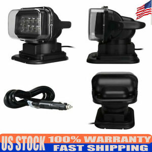 7 Led Spotlight Searchlight Source Outdoor Remote Control Lamp For Truck Car Us