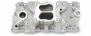 Edelbrock Performer Rpm Intake Manold Chevy S283 327 350 Fits Stock Heads 7104