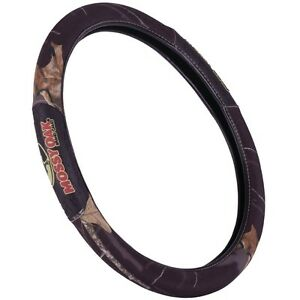 Black Mossy Oak Camo Steering Wheel Cover 2 Grip Camouflage