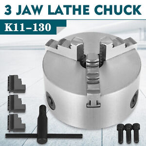 K11 130 130mm 3 Jaw Self Centering Lathe Chuck Milling Grinding Wood Turning