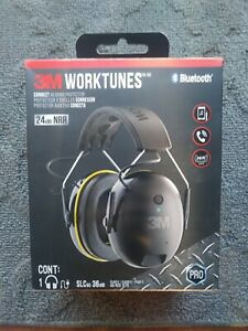 3m Worktunes Hearing Protector Black Wireless Bluetooth Headset Headphones