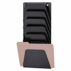 Officemate Wall File Holder 7 Sections Legal letter Black oic21505