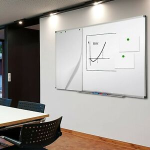 Board Erase Magnetic Whiteboard White Office Markers Eraser Writing School Frame