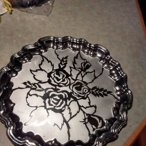 Silver Plated 15 Round Serving Tray Platter