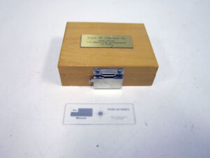 Roger N Sherman Co 1097 Precision Stage Micrometer 10 50 100 Micron Um