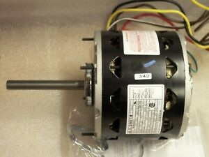 Ao Smith Electric Fan Motor 1 Ph 208 230v 1 3hp 2 Speed 1075 Rpm 48y Frame 1d