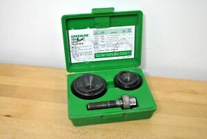 Greenlee Tools 737bb Knockout Punch Set 1 1 2 2 Conduit Size In Hard Case