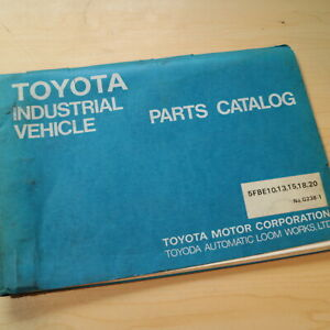 Toyota 5fbe 10 13 15 18 20 Forklift Parts Manual Book Catalog List Spare Lift 5f
