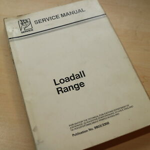 Jcb Loadall 520 525 530 540 Telehandler Forklift Service Repair Shop Manual Book