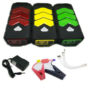 3 Color 12v Heavy Duty Usb Jump Starter Battery Car Power Bank Charger Booster