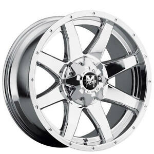 Qty4 18 Off Road Monster Wheels M08 Chrome Off Road Rims