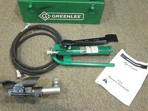 Greenlee 800 Hydraulic Cable Bender With 1725 Foot Pump And Box Free Shipping