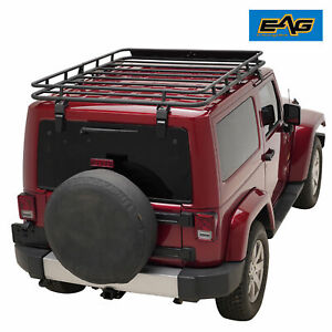 07 18 Jeep Wrangler Jk 2 4 Door Roof Rack Cargo Basket 4 9 x5 9 x5 5