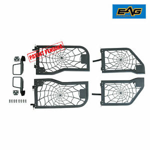 Eag 2018 2019 Jeep Wrangler Jl 4 Door Spider Web 4 Tube Door Armor With Mirror