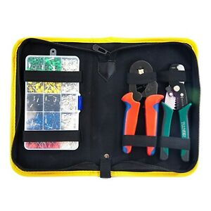 Wire Pliers Tool Crimper Cutter Stripper Professional Set Insulated Connectors