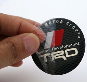 4 Pack Trd Racing Development Wheel Center Hub Cap Sticker Decal 2 2 Diam