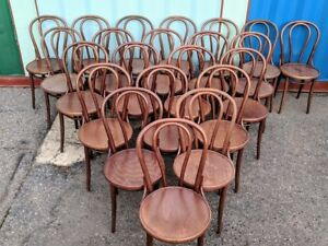 2 Vintage Bentwood Bistro Chairs Made In Czechoslovakia 11 Pairs Available