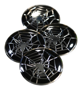 4x Spider Web Wheel Hub Center Cap Sticker Decal 2 20 Diameter Auto Car