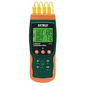 Extech Sdl200 4 chan Datalogging Thermometer 6 Thermocouple Types