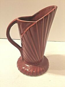 Antique Art Deco Art Pottery Palm Vase Pitcher