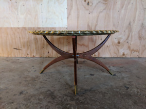 Spider Leg Coffee Table With Removable Ornate Brass Tray Zipcode 4 Shipping