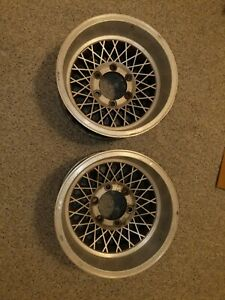 15 X 8 5 Vintage Appliance Wire Mag Wheels Rims 6 Lug Chevy K5 K10 Hickey
