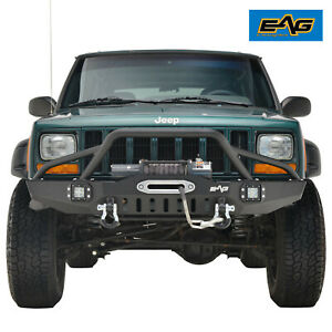 1983 2001 Jeep Cherokee Xj Front Bumper With Led Lights