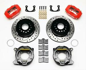 Wilwood 140 7140 dr Ford 9 Big Flange Dynalite Pro Series Rear Disc Brake Kit