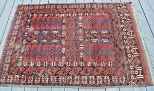 Turkoman Engsi Prayer Door Hanging Carpet Rug Hatchli Vintage Antique Yomut