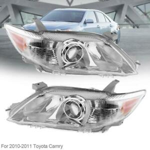 Headlamp Projector Left Right Headlight Us Built Model Fits 10 2011 Toyota Camry