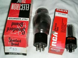 Rca 83 And 5y3gt Tube Set For Hickok Tube Testers